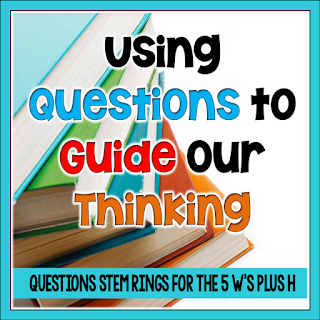 Using question stems supports primary readers and helps them use the Five W's plus H to create and answer questions during reading.