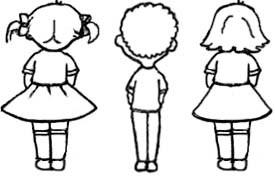 atrás derecha izquierda dibujo