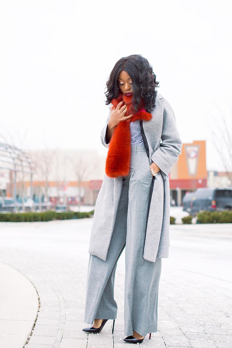 Winter look, jcrew stole, statement coats, www.jadore-fashion.com