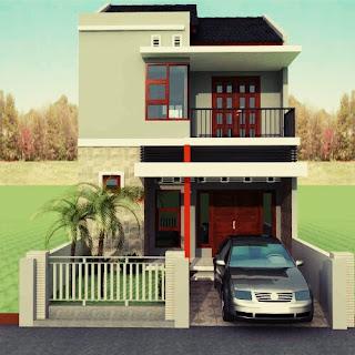 home minimalist type 36 2 floors