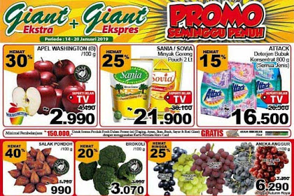 Katalog Promo Giant Weekday Terbaru 14 - 20 Januari 2019