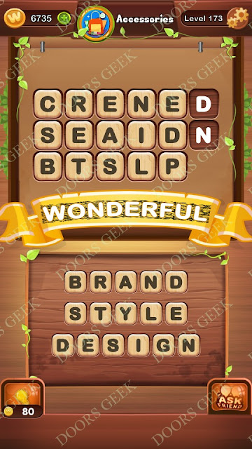 Word Bright Level 173 Answers, Cheats, Solutions, Walkthrough for android, iphone, ipad and ipod