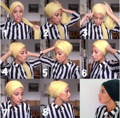 Tutorial Hijab Turban Pashmina Modern Gaya #25 Femme La Generale Simple