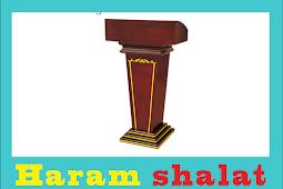 Haram shalat bila imam telah di atas mimbar