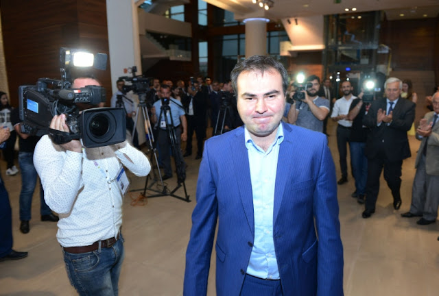 Shakhriyar Mamedyarov en la última ronda del Shamkir Chess 2016