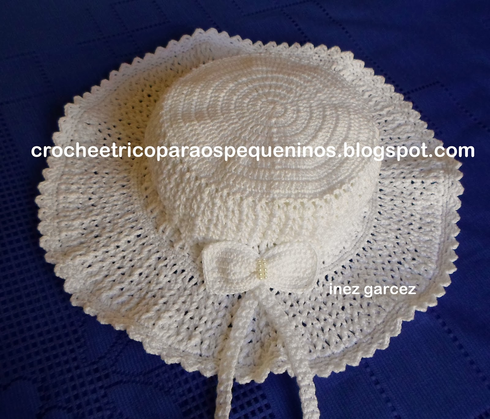 CROCHE E TRICO PARA OS PEQUENINOS  Chapéu de crochê para bebe no ... 7fde85744dd