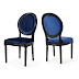 Landon Traditional Navy Blue New Velvet Dining Chairs