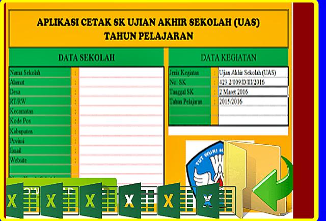 Download Aplikasi Cetak SK Kegiatan UTS,Tryout, UAS Dan US Terbaru