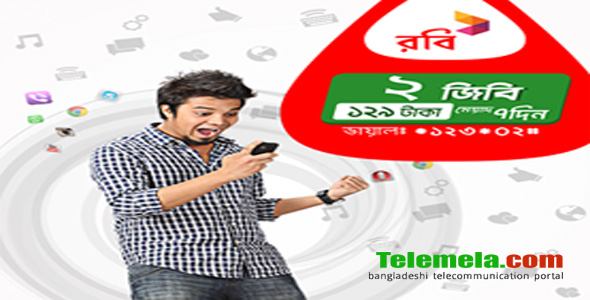 Robi 2GB internet at 129TK Delight Pack