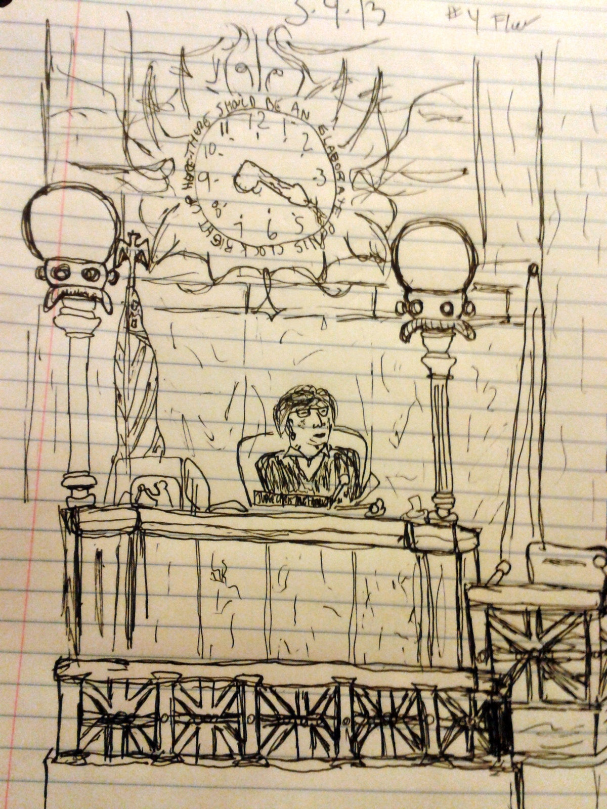 Beauty And The Robeast Courtroom Sketch Artistinterior