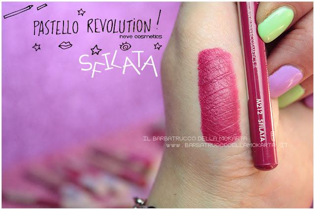 sfilata swatches BioPastello labbra Neve Cosmetics  pastello revolution