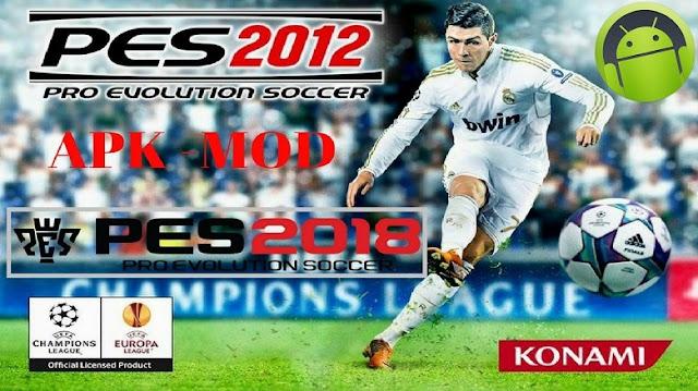 Download PES 2012 Mod PES 2018 Apk Data Full Game