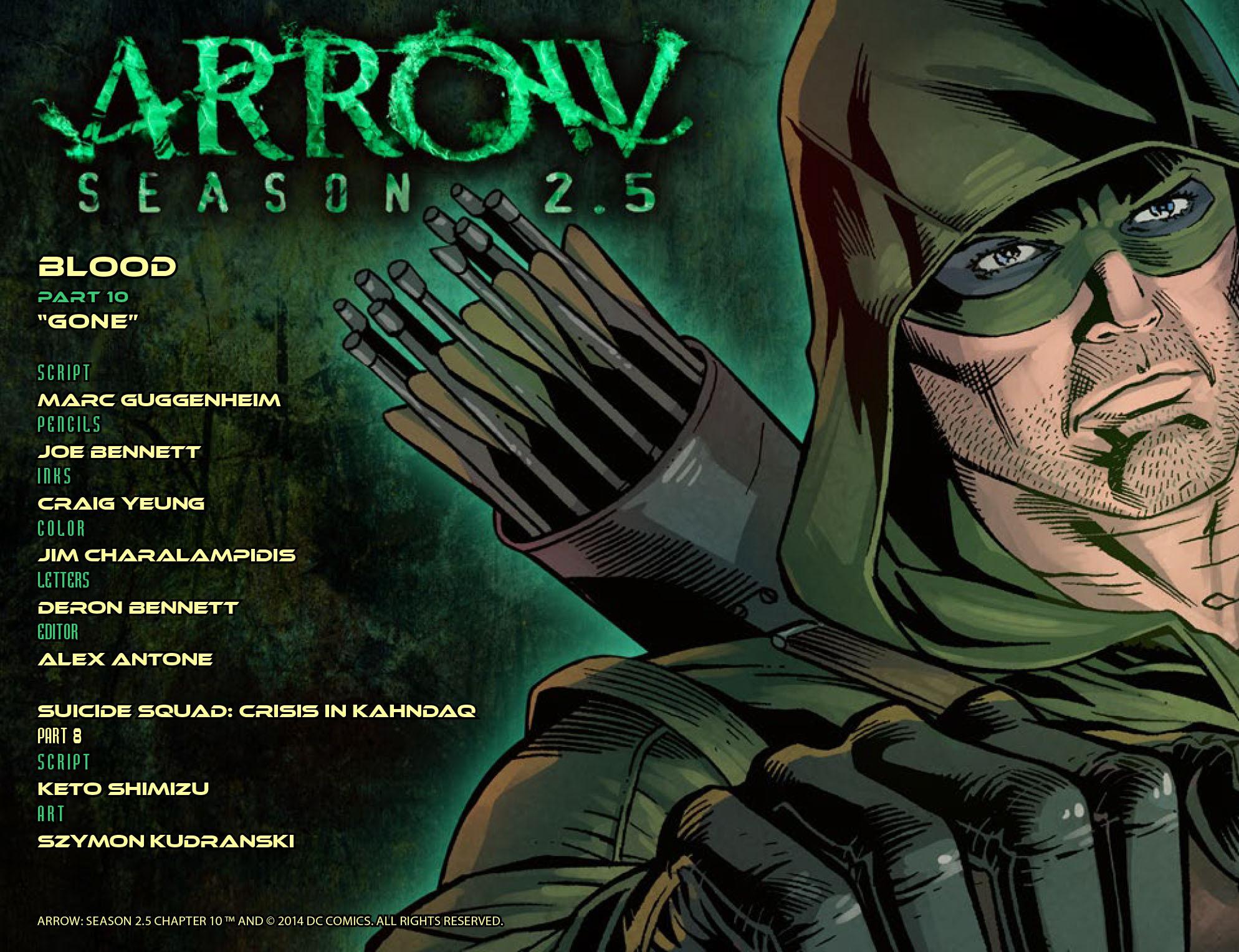 Read online Arrow: Season 2.5 [I] comic -  Issue #10 - 2