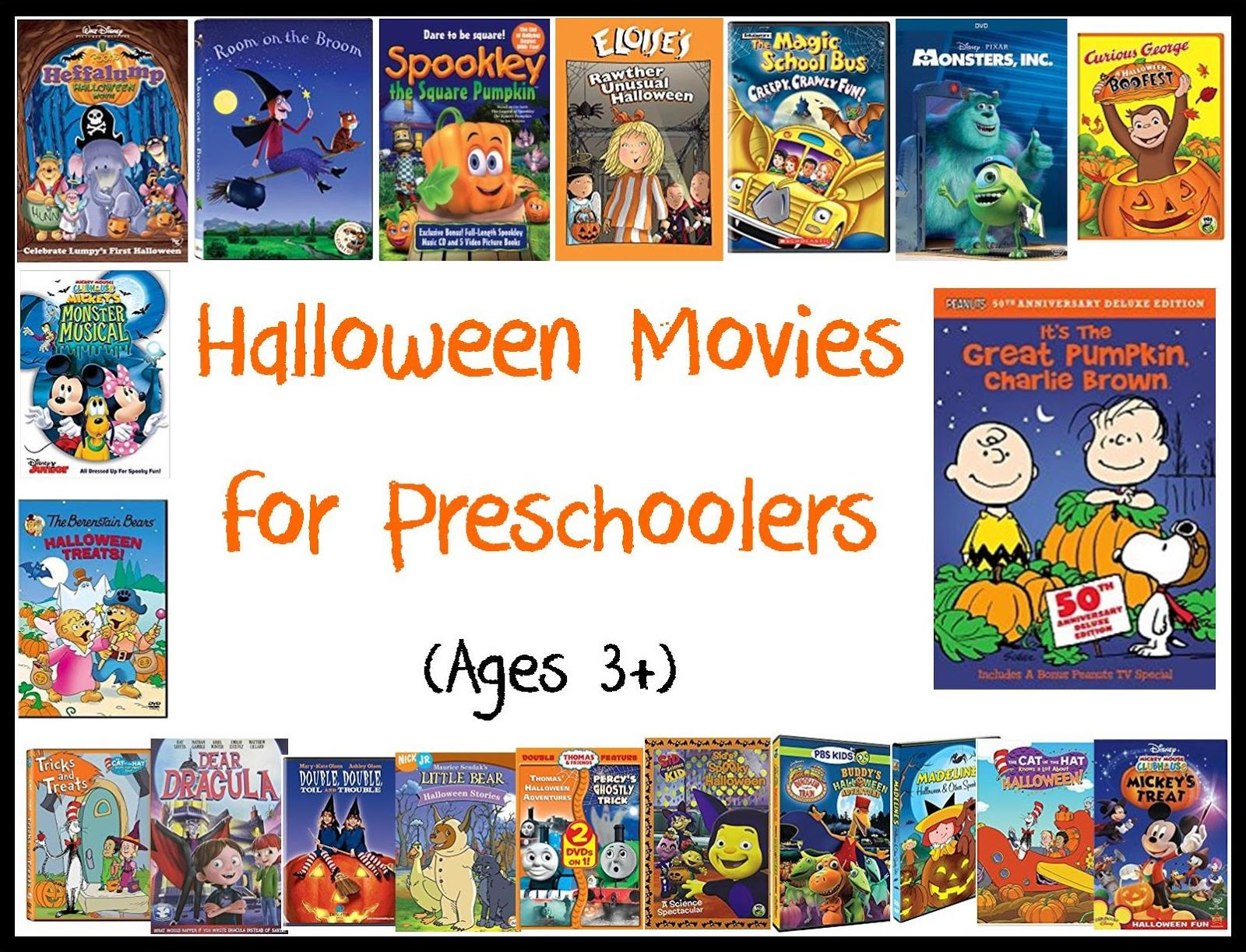 Sparrows at Home: Halloween Movies for Preschool-Aged Children