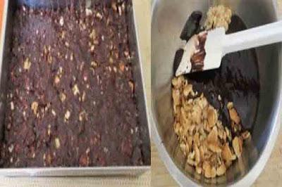 كيكة البسكويت الباردة بالكريم باتسيير والشوكولاته