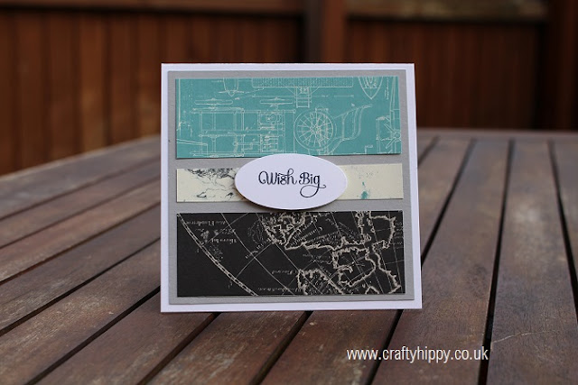 Going Places Designer Series Paper - 'Wish Big', Masculine Card