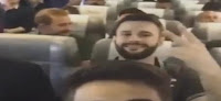brasileño ante del avión despegar