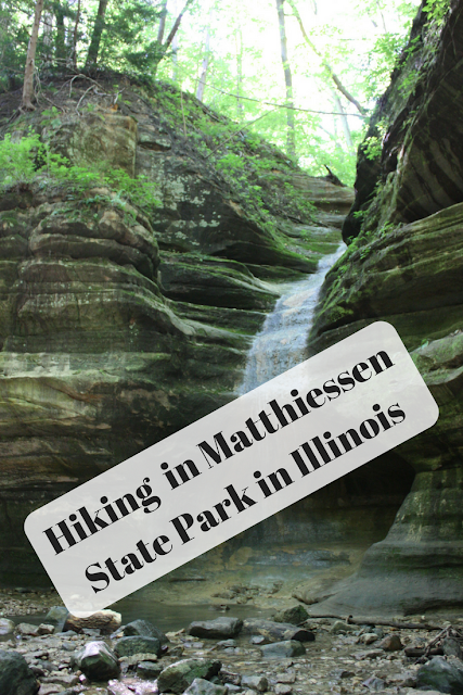 Hiking and Skipping Stones in Matthiessen State Park in Illinois