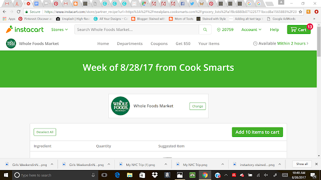 healthy family Meal Planning, recipes, instacart, grocery shopping
