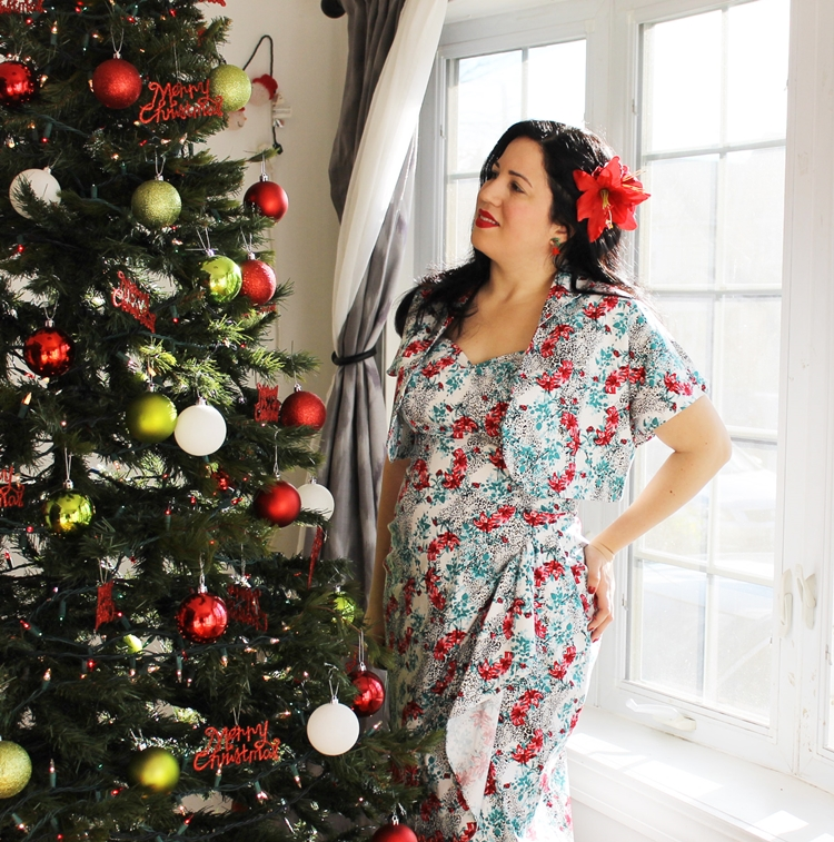 A Vintage Nerd, Vintage Blog, Retro Christmas Dress, Vivien of Holloway, Retro Fashion Blog