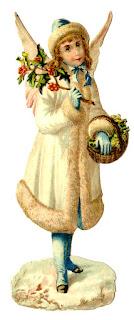 alte Zeichnung des Christkinds oder Weihnachtsengels