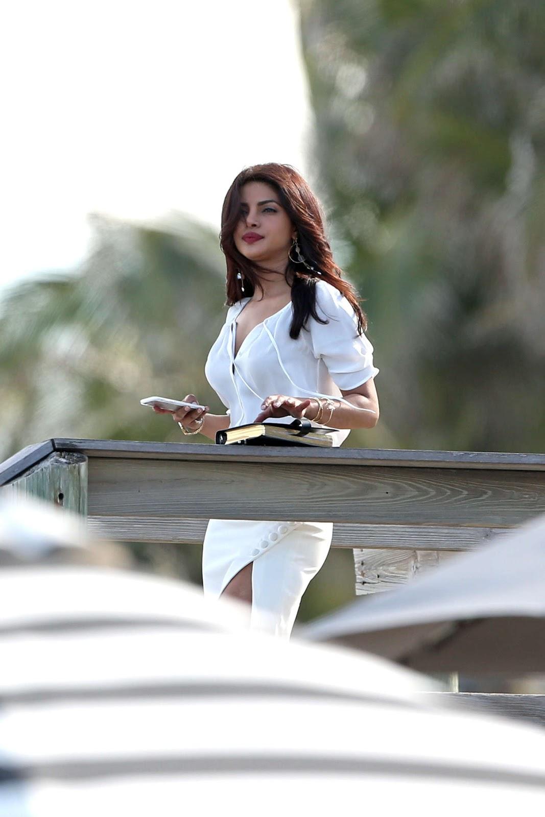 Priyanka Chopra  Filming Baywatch Movie In Boca Raton -3542