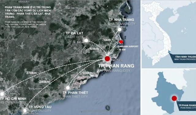 Vị trí dự án căn hộ Sunbay Park Hotel Ninh Thuận