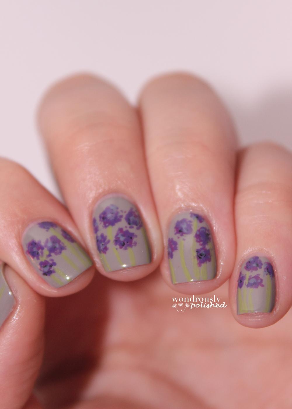 Wondrously Polished April Nail Art Challenge: Wondrously Polished: 30 Day Flower Challenge
