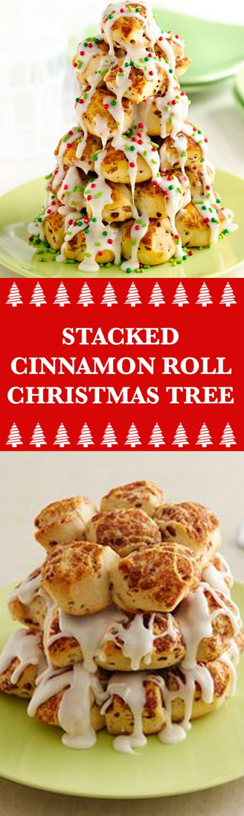 Stacked Cinnamon Roll Christmas Tree