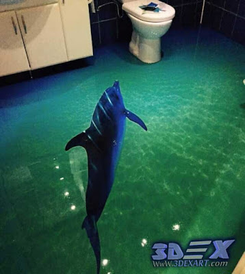 3d flooring, 3d epoxy floor art mural installation