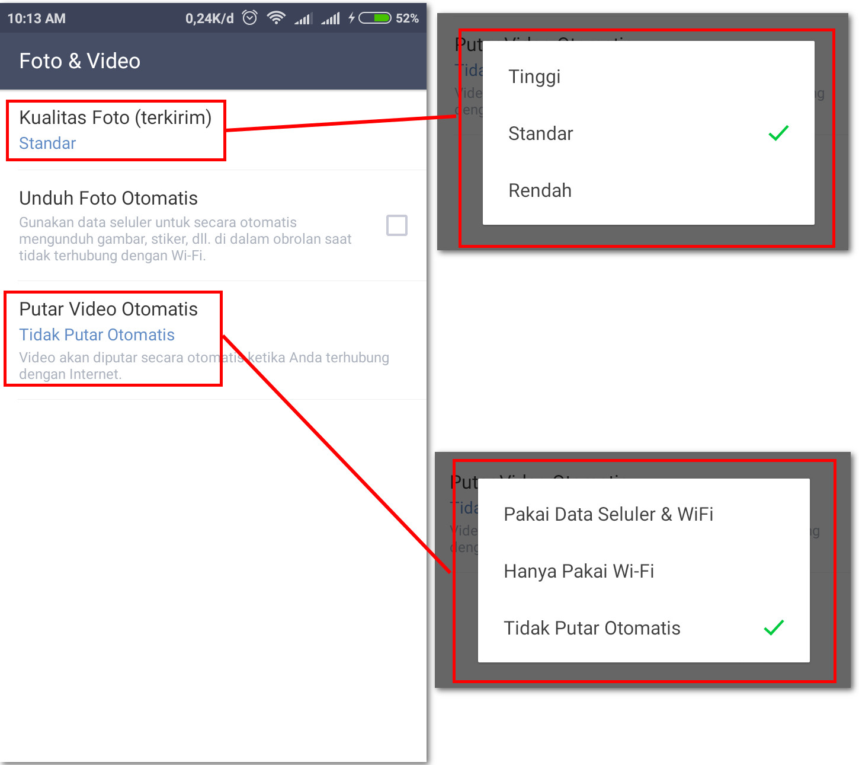 Line – Tips Hemat Kuota Internet (Paket Data) Pada Android