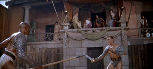 Kirk Douglas and Woody Strode in Spartacus