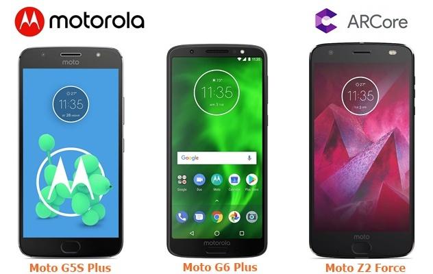 Moto G5S Plus, G6 Plus support google ARCore