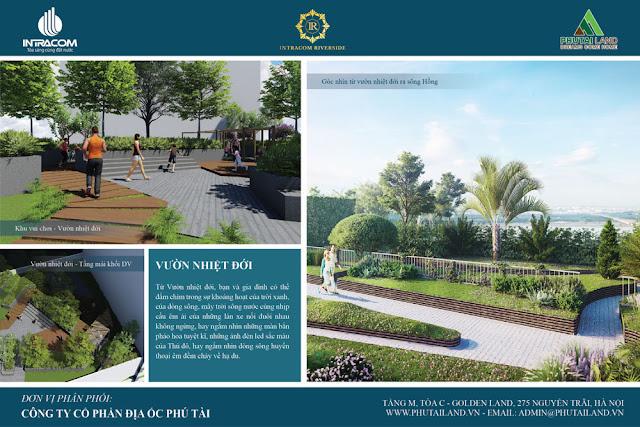Vườn thượng uyển tại Intracom Riverside