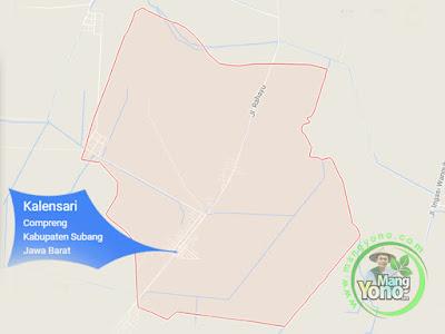 PETA : Desa Kalensari, Kecamatan Compreng