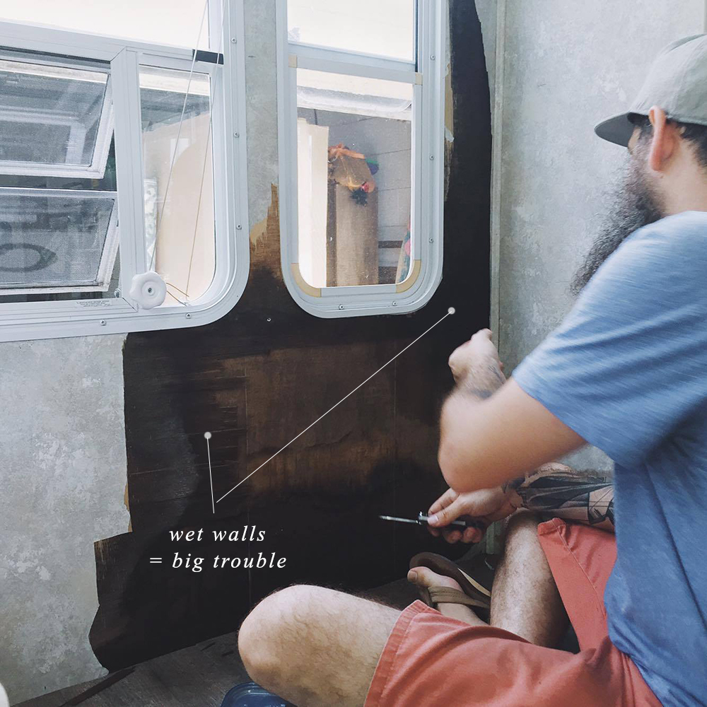 how to fix water damaged wall in rv