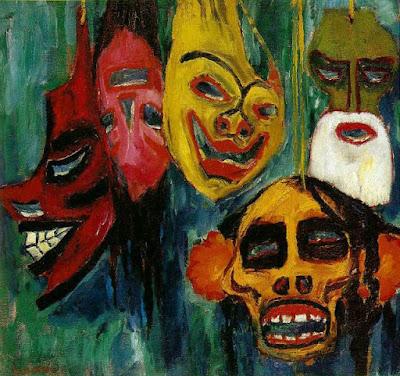 Emil Nolde - Mask still life,1911