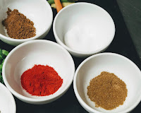 Chilli powder Cumin powder salt garam masala for Tandoori Pomfret Recipe