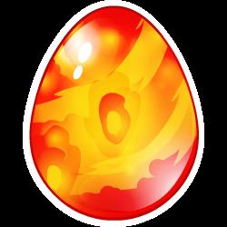 Das Erscheinen des Ei Feuervogel-Drache