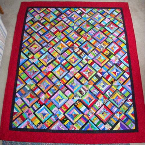 Scrappy String Quilt Tutorial
