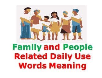 Daily Use Vocabulary Words With Meaning