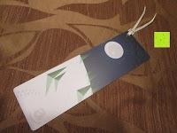 Erfahrungsbericht: Amazon.de Geschenkgutschein als Lesezeichen - mit kostenloser Lieferung am nächsten Tag
