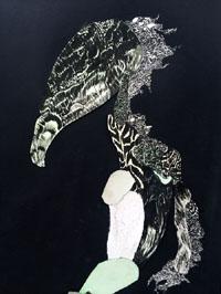 """Nelleke de Noo : Tree Creature 2, exposition """"d'Inspiration Jérôme Bosch"""", Galerie de la Marraine"""