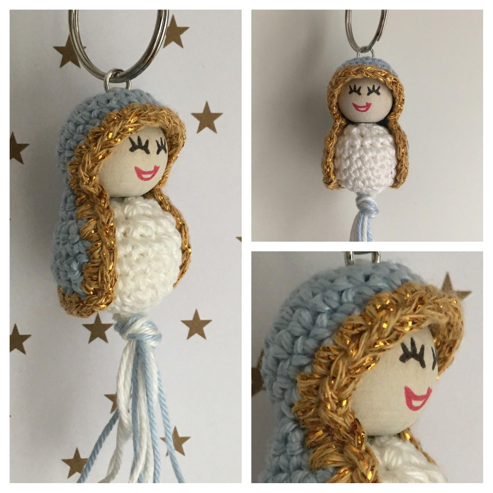 Handmade By E Sleutelhanger Madonnina