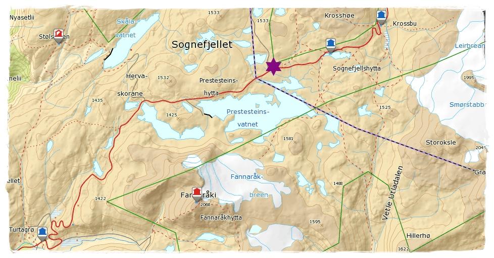 sognefjellet kart Liv Janne sin tur  og fjellblogg: Varderekkja over Sognefjellet og  sognefjellet kart
