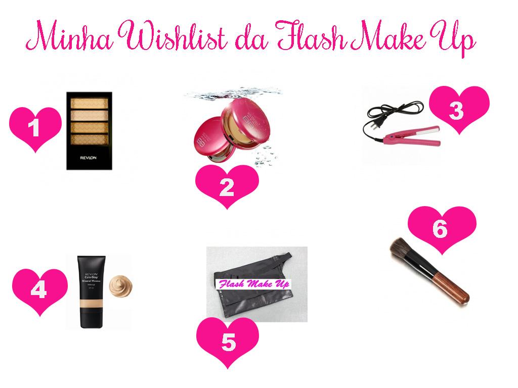 Confira minha wishlist de janeiro da Flash Make Up