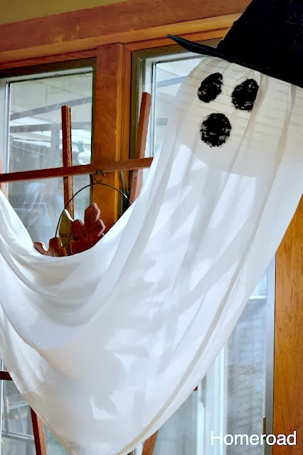 Create a Halloween Ghost From an Old Sheet