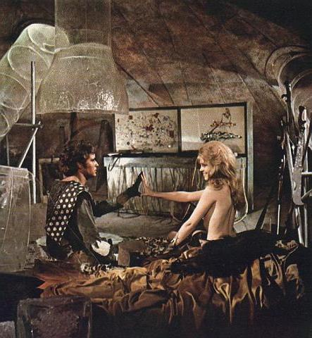 Jane Fonda topless in Barbarella 1968
