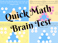 Mathematics Brain Test for Teens with Answers