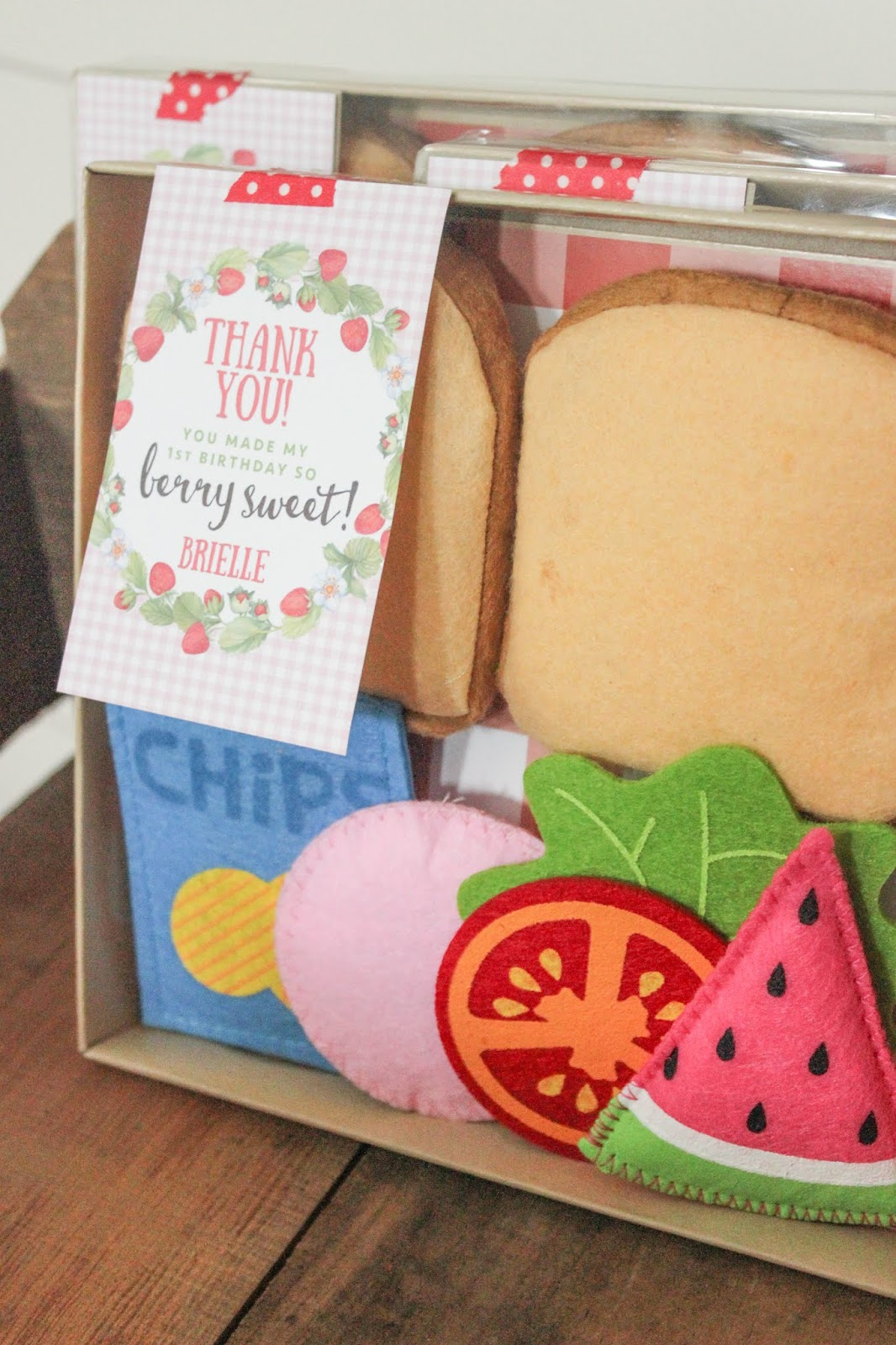 picnic birthday party favor ideas